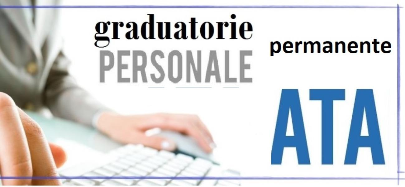 PUBBLICAZIONE GRADUATORIE  DEFINITIVE provinciali permanenti del personale ATA