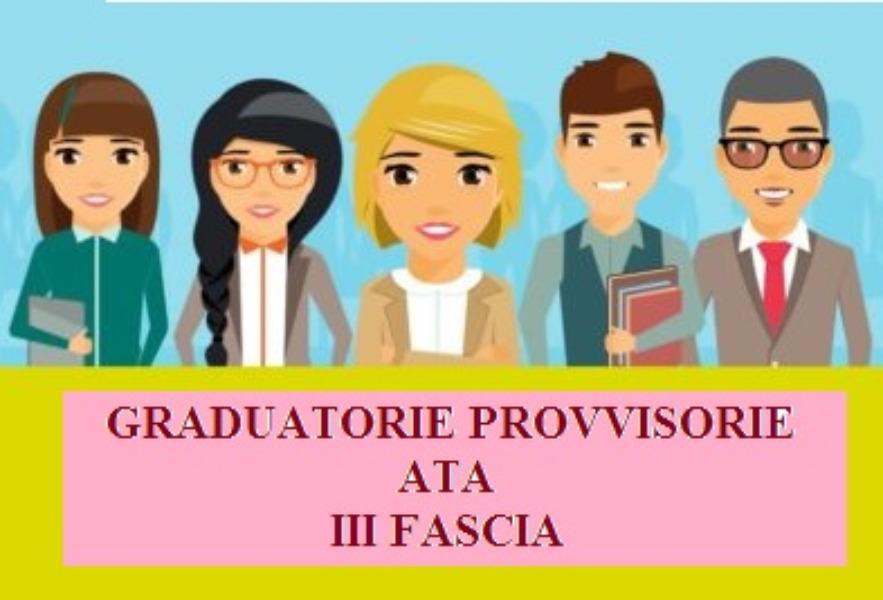 PUBBLICAZIONE GRADUATORIE PROVVISORIE 3 FASCIA ATA 2021-2023